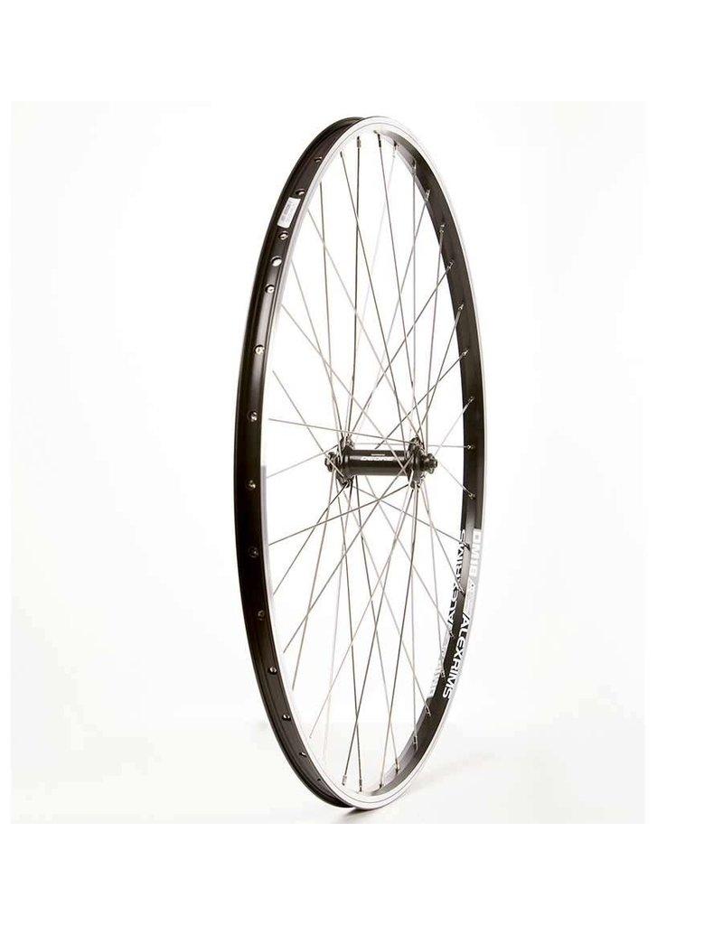 The Wheel Shop Alex DM18 Noir/ Shimano Deore HB-T610, Roue, Avant, 700C
