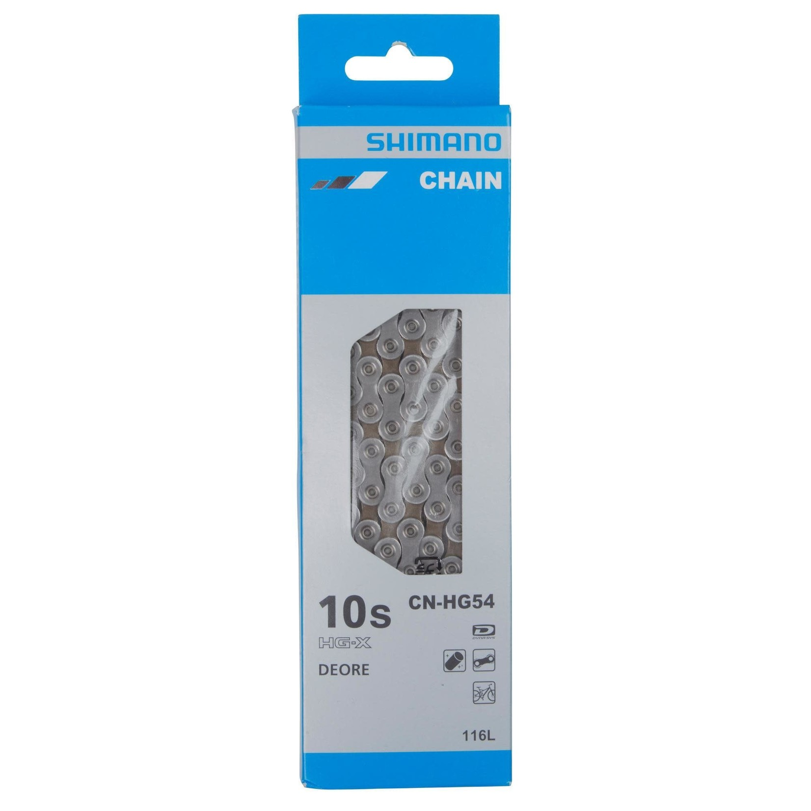 Shimano BICYCLE CHAIN, CN-HG54, SUPER NARROW HG, FOR MTB 10-SPEED, 116 LINKS, CONNECT PIN X 1