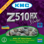 """KMC Z510HX Chain 1/8"""" 116 Links, Silver"""