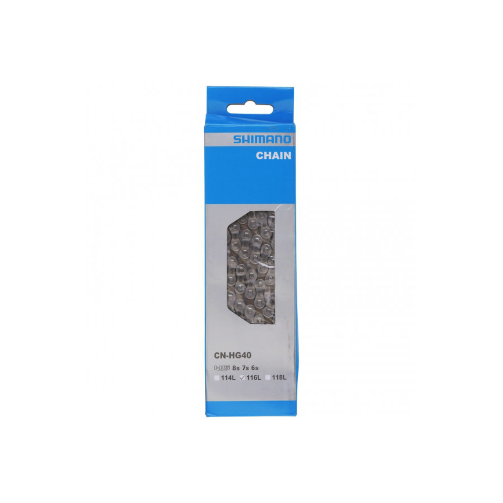 Shimano CN-HG40, Chaine, 6/7/8vit., 116 maillons
