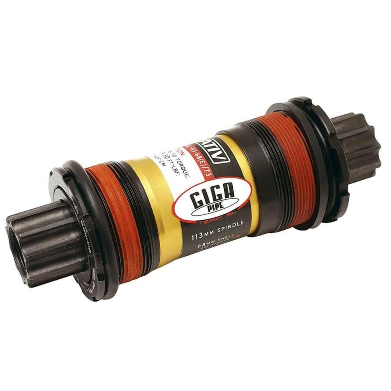 Truvativ Giga Pipe SL, Jeu de pedalier ISIS, BSA, 68/E/73mm, 118mm, Acier, Noir, 00.6415.010.000
