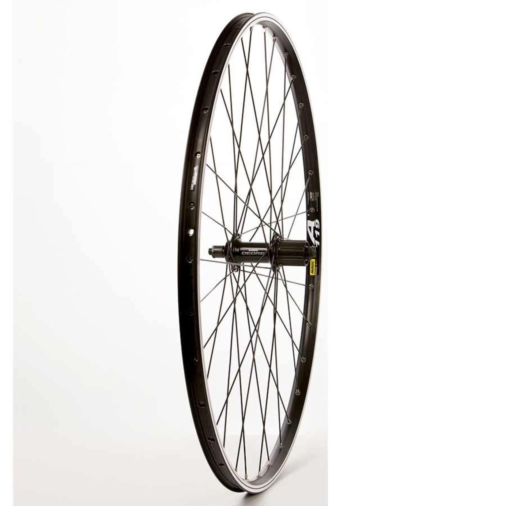 The Wheel Shop Roue 700C Arriere Mavic A119 Noir / FH-M525 Noir, Rayons DT Stainless Noir X 32, Essieu QR, Cassette 9/10 Vit