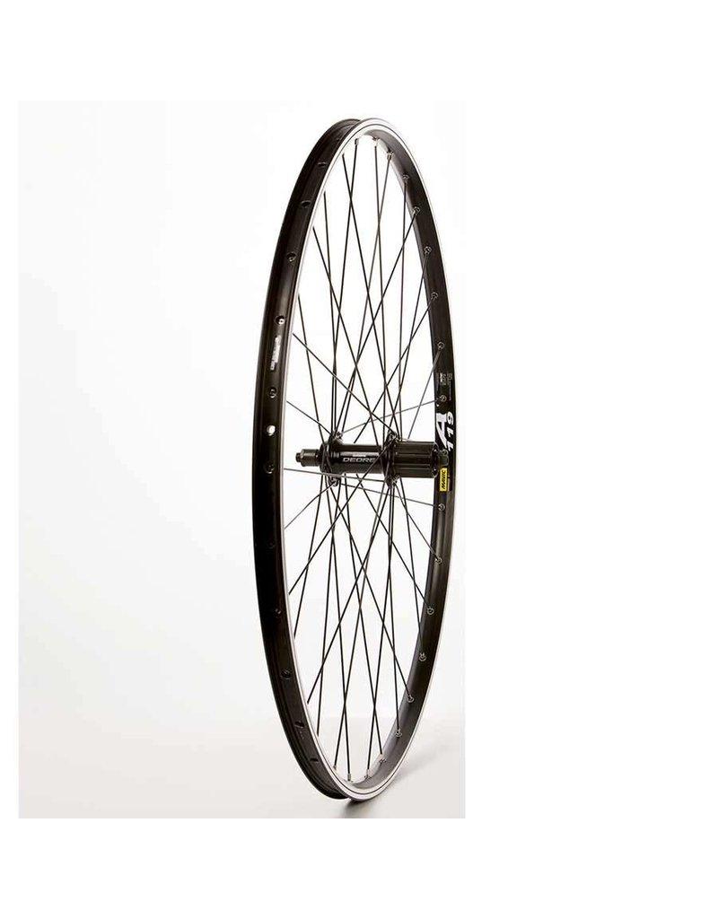 The Wheel Shop Wheel Shop, Mavic A119 Noir/ Shimano Deore FH-M525, Roue, Arrière, 700C / 622, Trous: 32, QR, 135mm, Jante et disque IS 6-boulons, Shimano HG