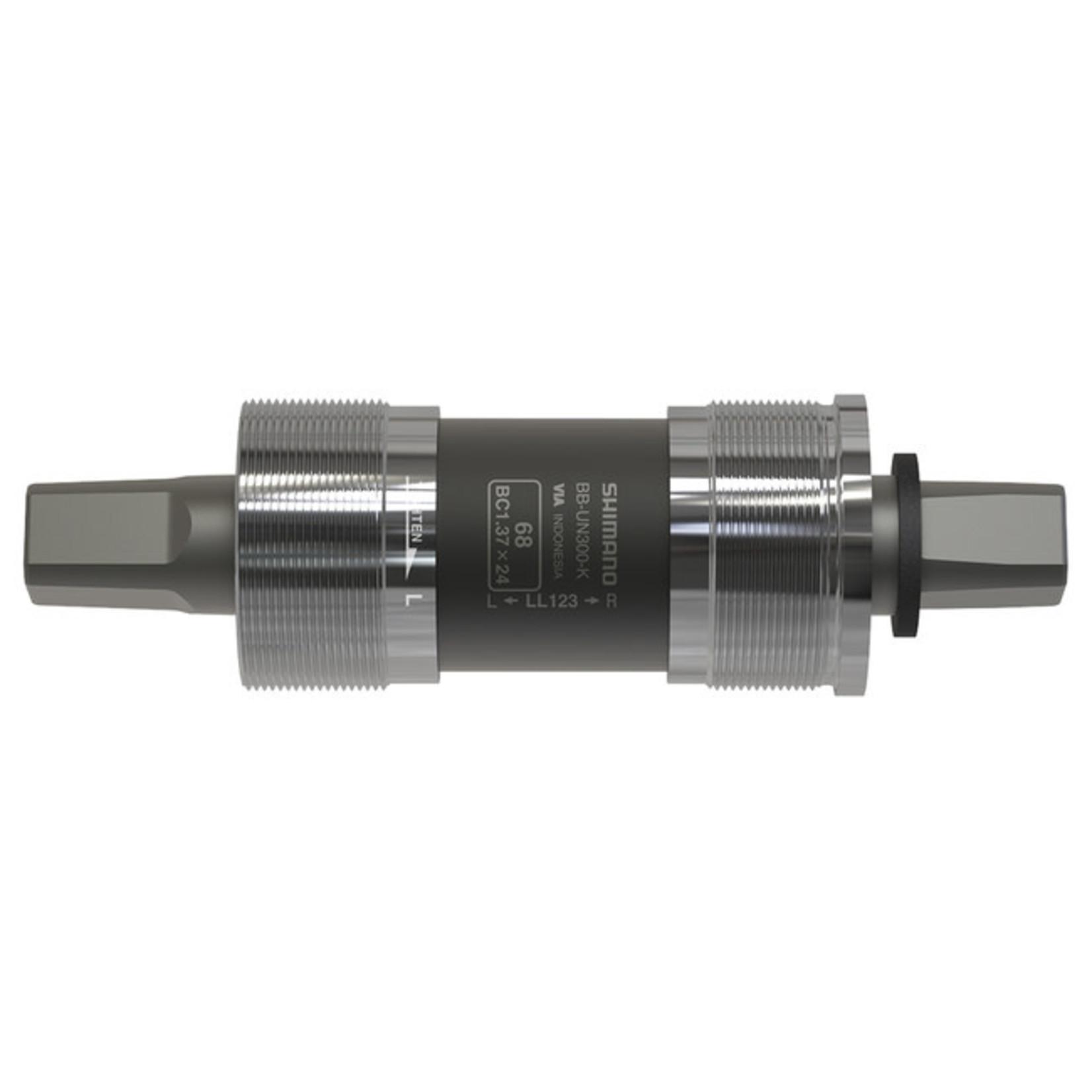 Shimano BB-UN300K LL122, Jeu de pédalier carré, Anglais, 68mm, : 122mm, Argent