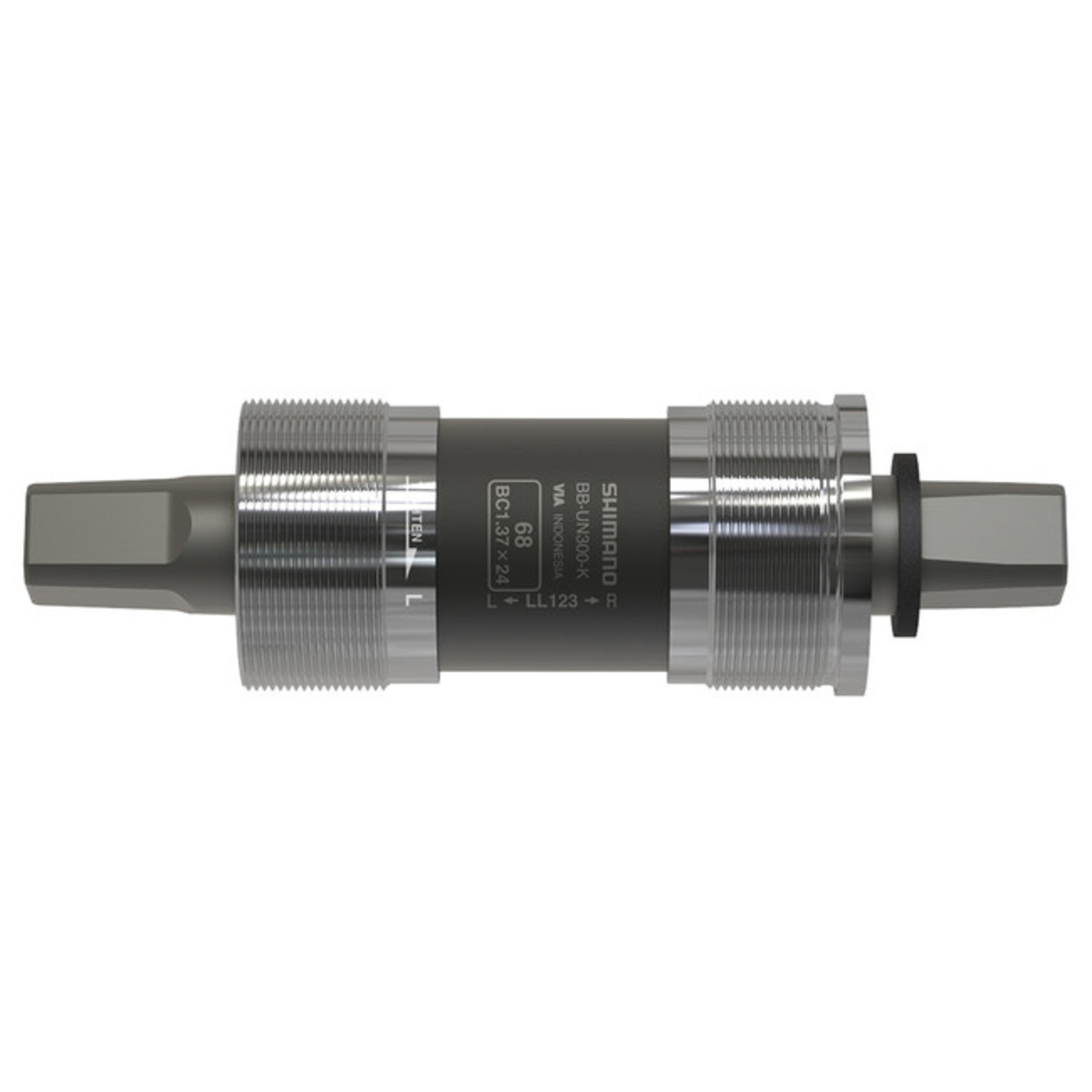 Shimano BOTTOM BRACKET, BB-UN300-K, FOR CHAINCASE, SPINDLE SQUARE