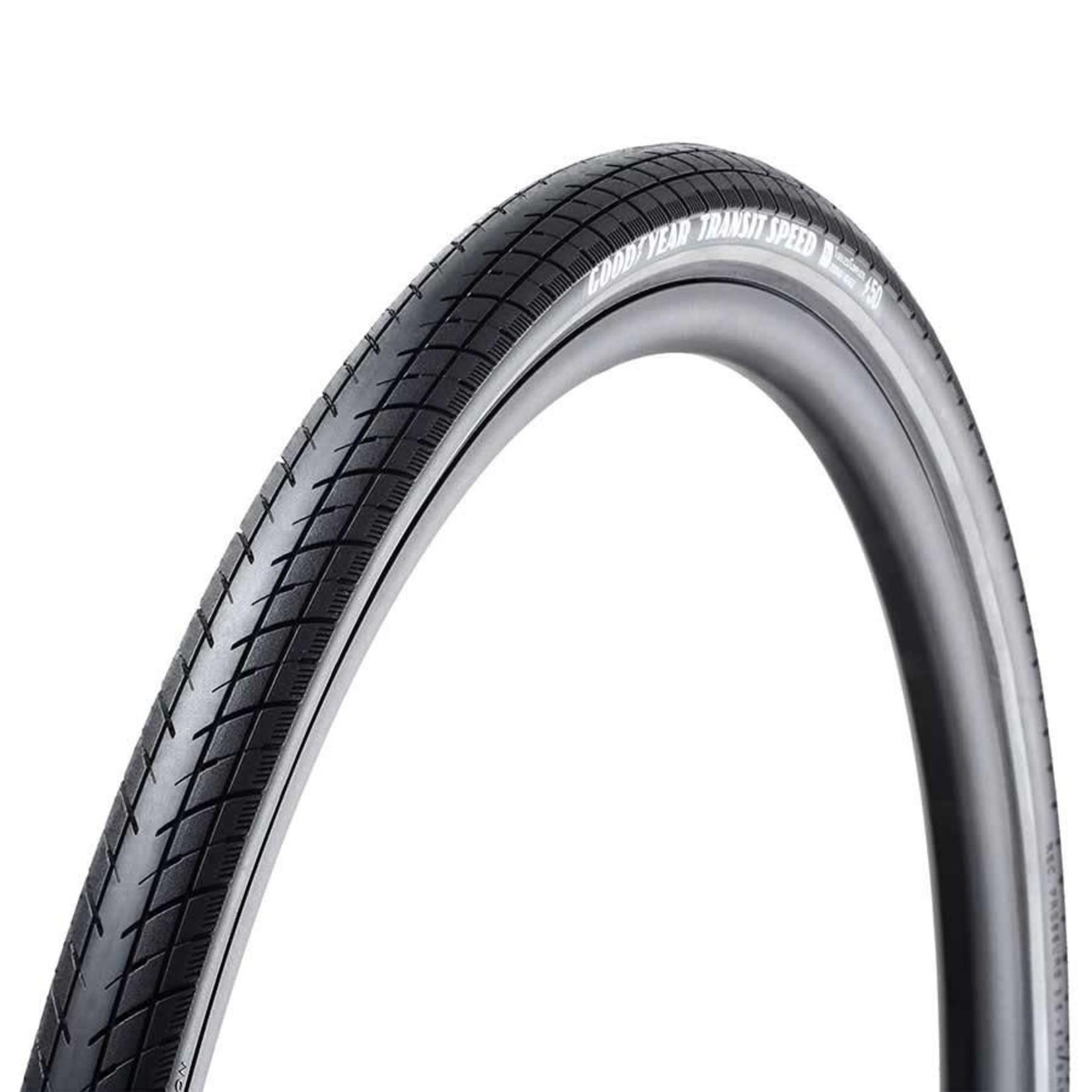 Goodyear Transit Speed, Tire, 700x50C, Folding, Tubeless Ready, Dynamic:Silica4, R:Armor, 60TPI, Black