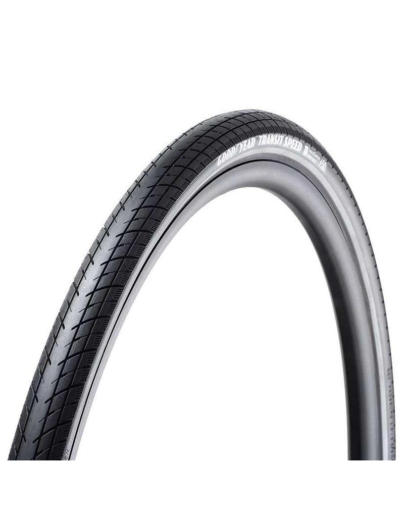 Goodyear Goodyear, Transit Speed, Tire, 700x40C, Wire, Clincher, Dynamic:Silica4, S5: Secure Shell, 60TPI, Black