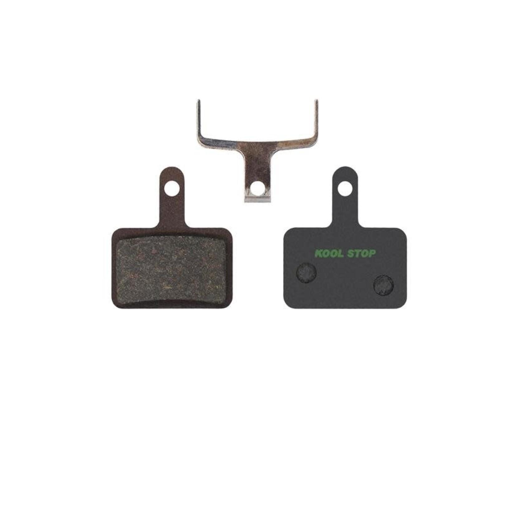 Kool-Stop Shimano Organic M575/M495 Disk Brake Pads, Ceramic Plate, E-Bike Compound, w/ Spring, #KS-D620E