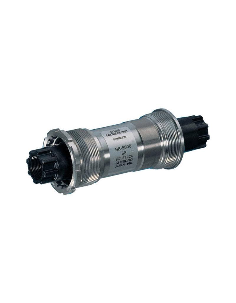 Shimano EBB5500B18, BB-5500, Octalink, BB Shell: 68mm, Axle: 118.5mm, Steel, Silver