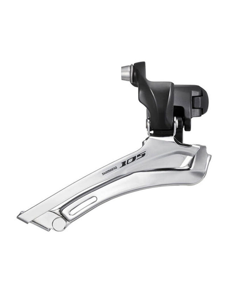 Shimano FRONT DERAILLEUR, FD-5700-L, 105, FOR FRONT DOUBLE & REAR 10-SPEED BRAZED-ON TYPE, BLACK