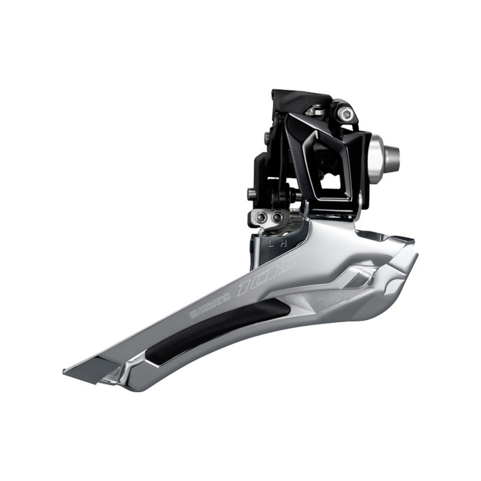 Shimano FRONT DERAILLEUR, FD-R7000-L, 105, FOR REAR 11-SPEED, DOWN-SWING, 34.9MM BAND, CS-ANGLE:61-66, FOR TOP GEAR:46-53T, BLACK