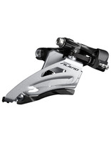 Shimano FRONT DERAILLEUR, FD-M3120-M-B, ALIVIO, FOR 2X9, MID CLAMP, SIDE SWING, 34.9MM BAND (W/31.8 & 28.6MM ADAPTER), CS-ANGLE: 64-69, FOR TOP GEAR: 36T, CL: 51.8MM