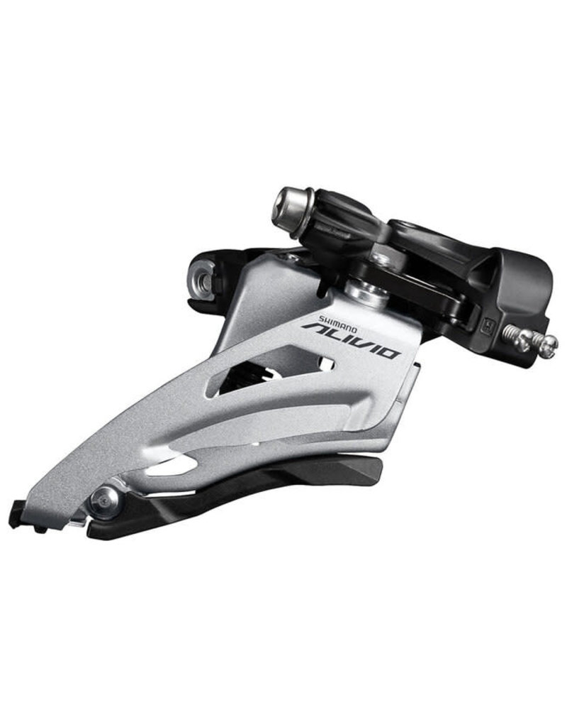 Shimano FRONT DERAILLEUR, FD-M3120-M, ALIVIO, FOR 2X9, MID CLAMP, SIDE SWING, 34.9MM BAND (W/31.8 & 28.6MM ADAPTER), CS-ANGLE: 64-69, FOR TOP GEAR: 36T, CL: 48.8MM