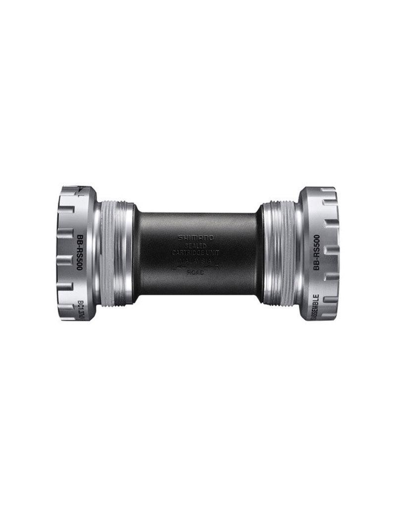 Shimano BB-RS500, Hollowtech II, Boitier: 68mm, Dia.: -, Axe: 24mm, Acier, Argent, EBBRS500B