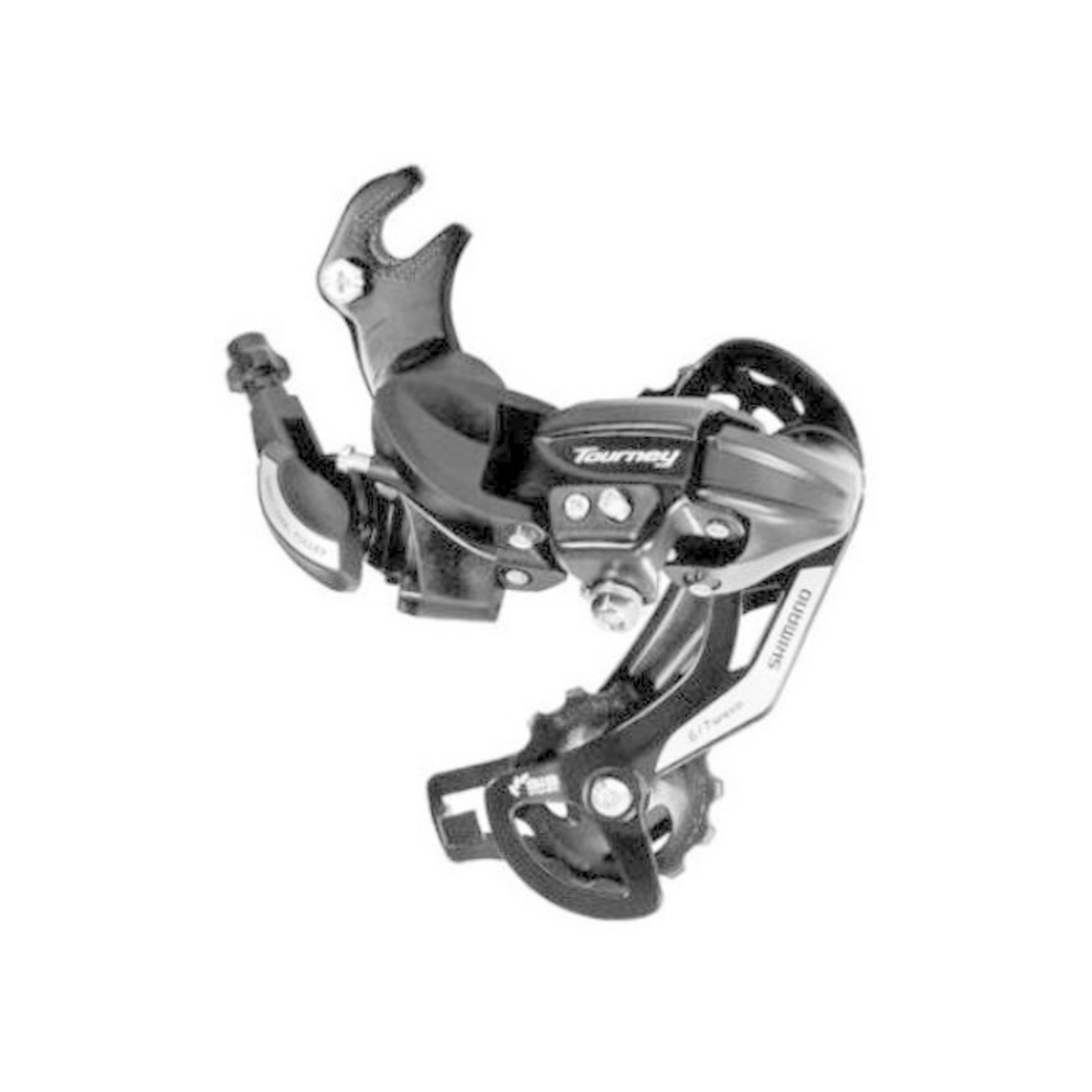 Shimano RD-TY500, TOURNEY, 6/7-SPEED, W/RIVETED ADAPTER(ROAD TYPE), W/ WHEEL TYPE CABLE GUIDE