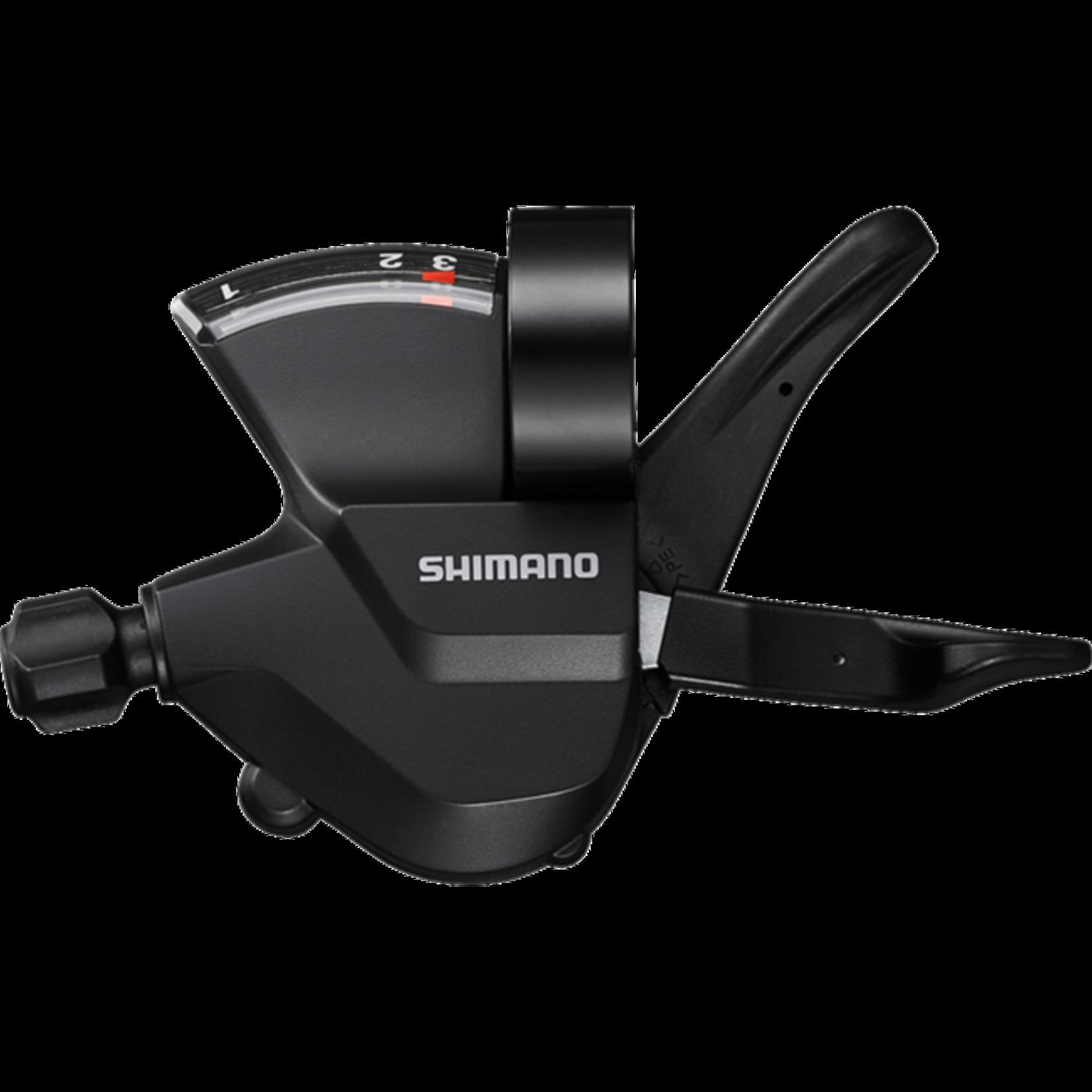 Shimano SL-M315-L, LEFT, 3-SPEED RAPIDFIRE PLUS, W/ OPTICAL GEAR DISPLAY