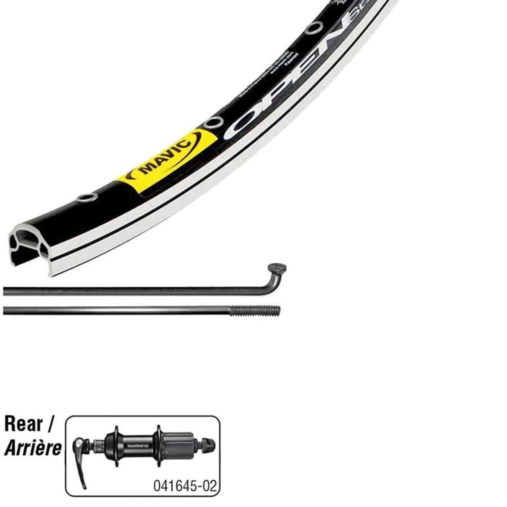 Mavic Open Elite Noir/ Shimano RS400 Noir, Roue, Arrière, 700C / 622, Trous: 32, QR, 130mm, Sur jante, Shimano HG 11