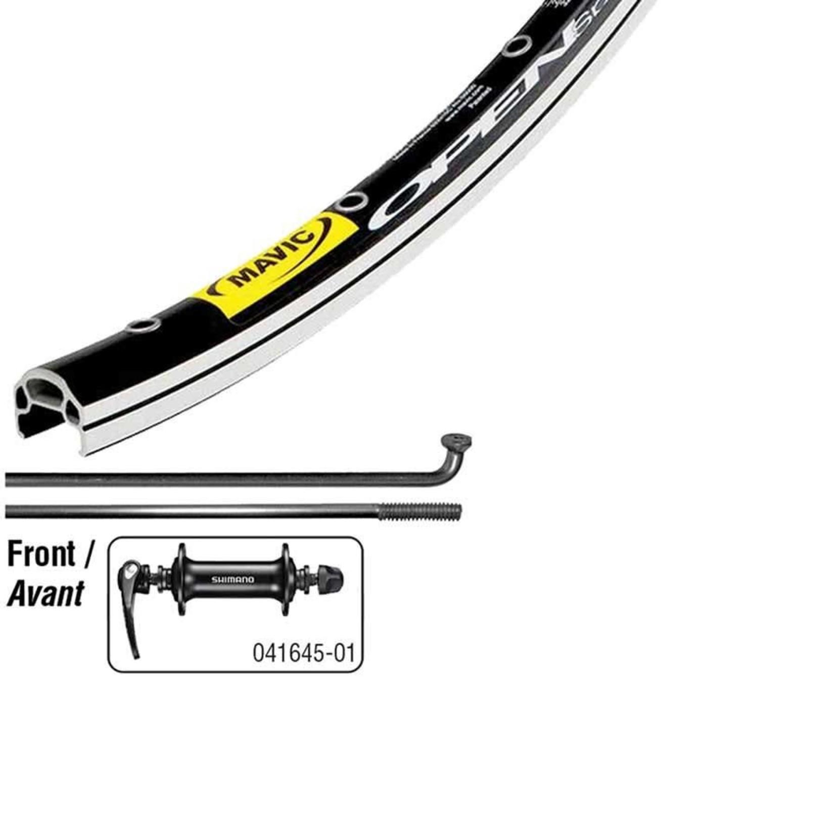 Mavic Open Elite Noir/ Shimano RS400 Noir, Roue, Avant, 700C / 622, Trous: 32, QR, 100mm, Rim