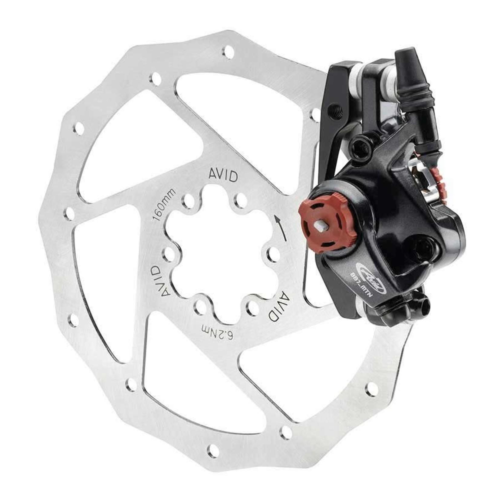 AVID BB7 MTB, Frein a disque mecanique, Gris, Avant ou Arriere, Sans rotor, Sans adaptateur