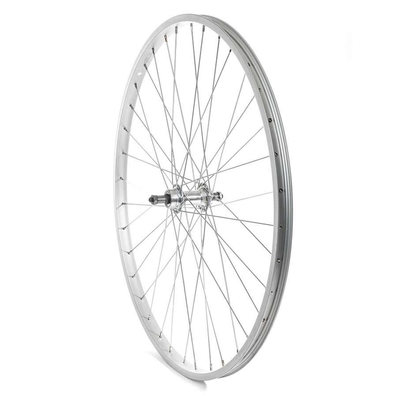 The Wheel Shop Roue 27'' Arriere Alex C303 Argent / FM-31 Argent, Rayons acier X 36, Essieu QR, Pour roue-libre