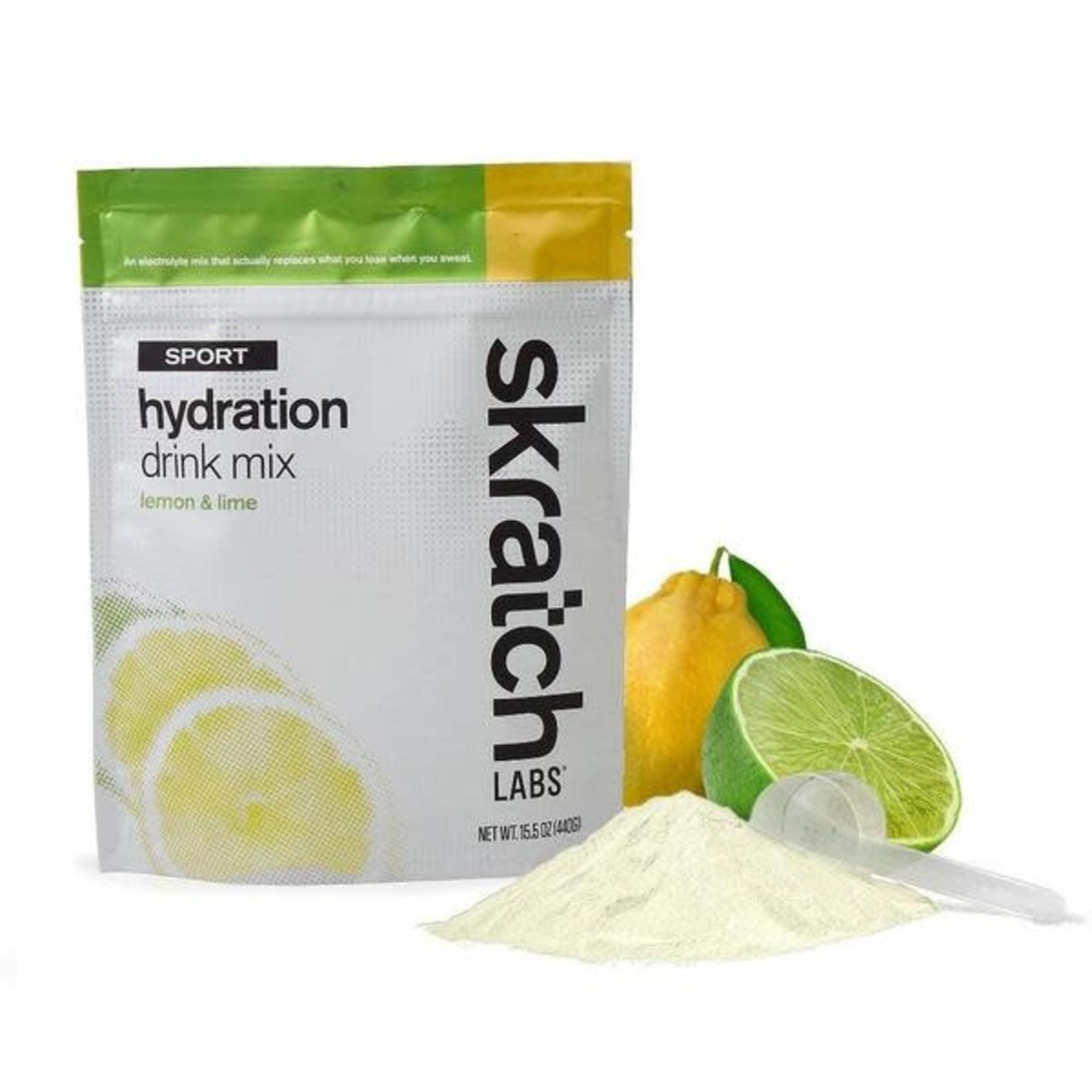 Skratch Labs Mélange de boisson d'hydratation pour sports: Citron et lime (Sac 440g)