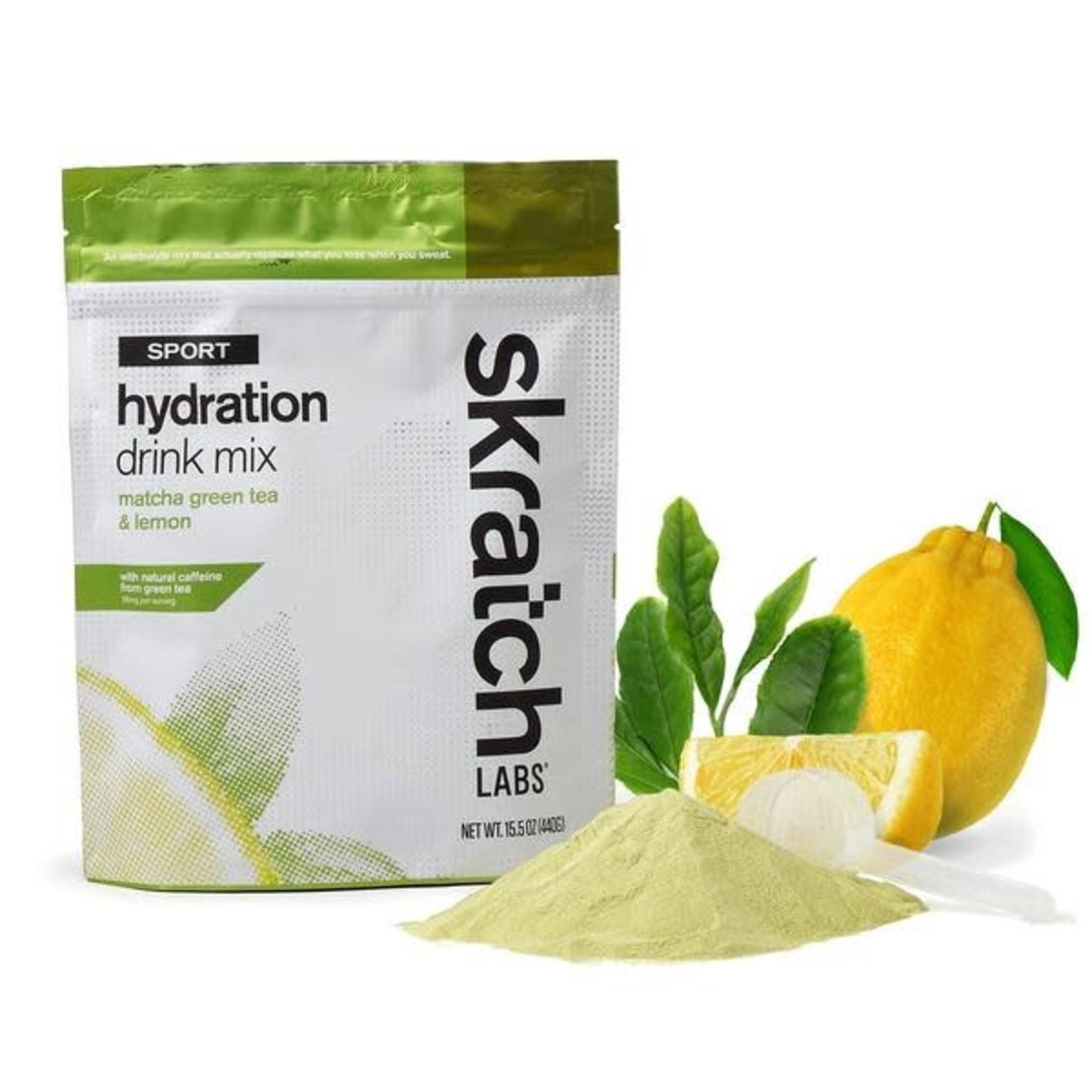 Skratch Labs Mélange de boisson d'hydratation pour sports: Thé vert matcha et citron (Sac 440g)
