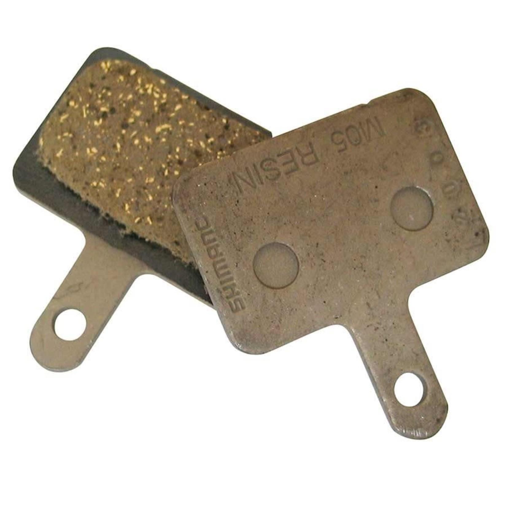 Shimano Y8B698010, M05, BR-M515, Patins de freins à disque, Résine, Paire, B type