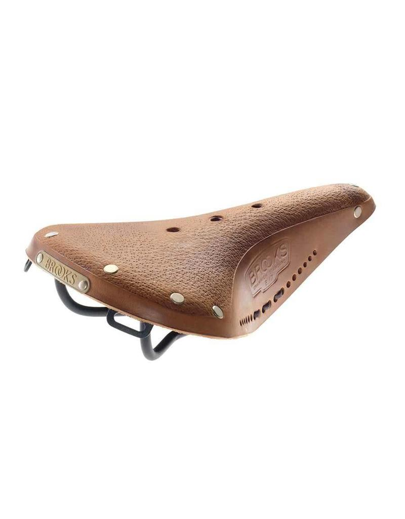 Brooks B17 Standard, Selle, 275 x 175mm, Men, 520g, Tan fonce avec lacets