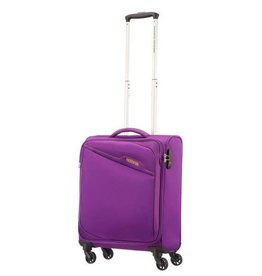 AMERICAN TOURISTER PURPLE SPINNER CARRYON  BAYVIEW