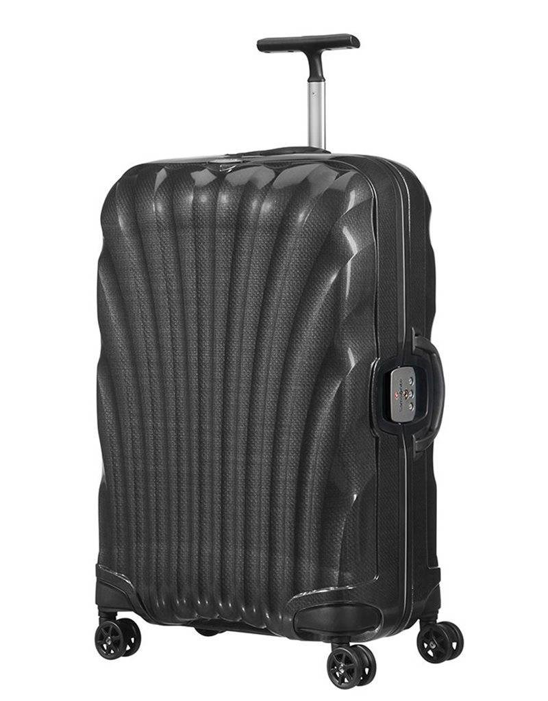 SAMSONITE 764611041 BLACK MEDIUM SPINNER  LITE LOCKED