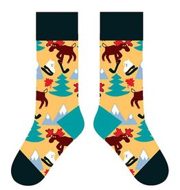TWO LEFT FEET TWO LEFT FEET SOCK MAPLE LEAF MOOSE BIG FEET