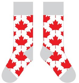 TWO LEFT FEET TWO LEFT FEET SOCK MAPLE LEAF RED SMALL FEET