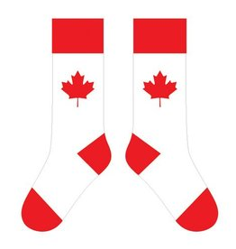 TWO LEFT FEET TWO LEFT FEET SOCK MAPLE LEAF WHITE BIG FEET