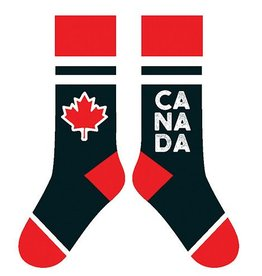 TWO LEFT FEET TWO LEFT FEET SOCK MAPLE LEAF BLACK BIG FEET