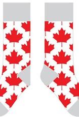 CANADIAN GIFT CONCEPTS TWO LEFT FEET SOCKS  MAPLE LEAF BIG FEET