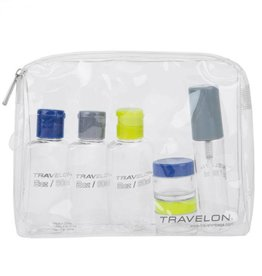 TRAVELON TRAVELON 1 QT ZIP-TOP BAG WITH BOTTLES AIRLINE COMPLIANT