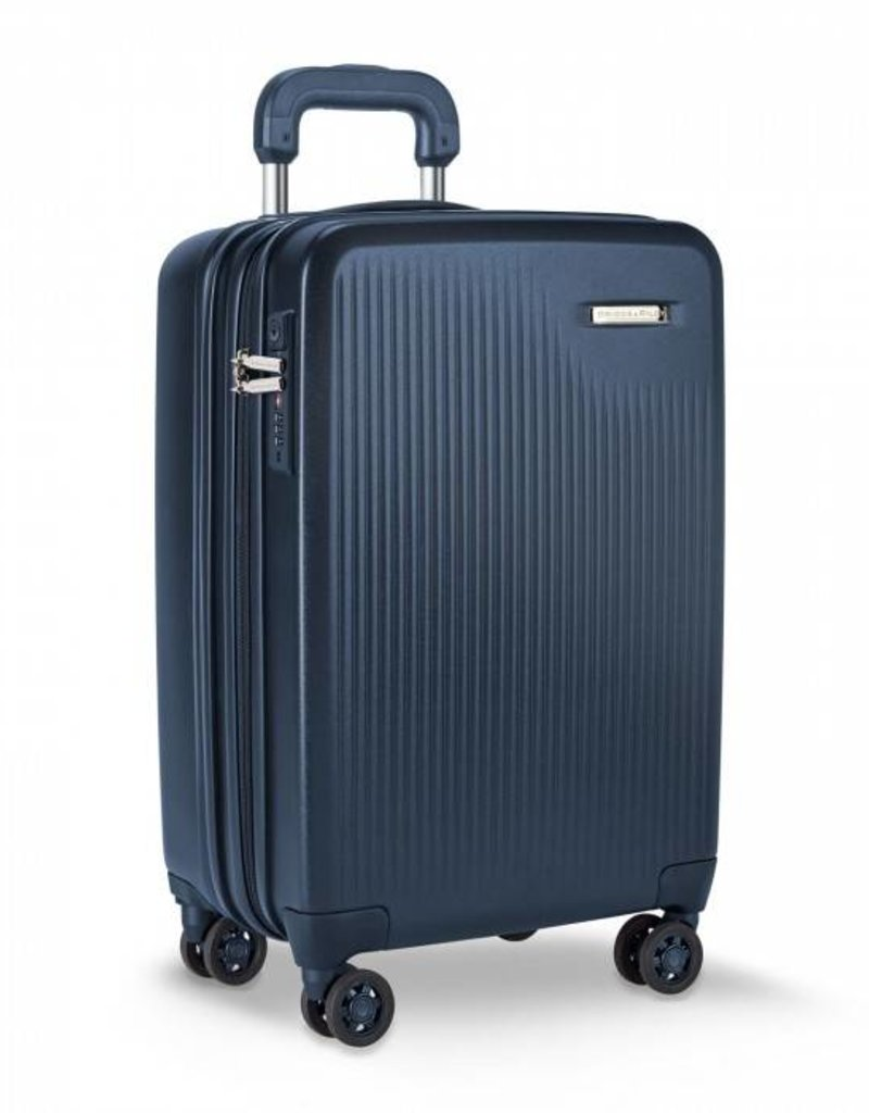 BRIGGS & RILEY SU121CXSP-59 MATTE NAVY  INTERNATIONAL CARRY-ON EXPANDABLE SPINNER