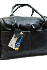 SGI LEATHERGOODS 1556 LARGE BLACK LEATHER DUFFLE