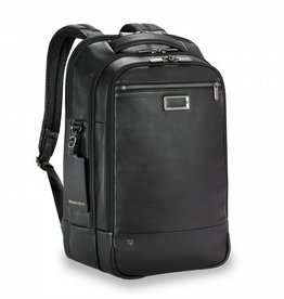 BRIGGS & RILEY BRIGGS AND RILEY LEATHER MEDIUM BACKPACK