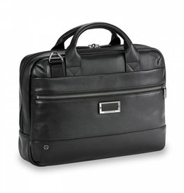 BRIGGS & RILEY BRIGGS AND RILEY  LEATHER SLIM BRIEF BRIGGS & RILEY