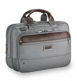 BRIGGS & RILEY SMALL EXPANDABLE BRIEF GREY