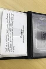 SGI LEATHERGOODS 639 BLACK RFID CARD CASE