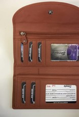 SGI LEATHERGOODS 619 ORANGE RFID LADIES WALLET
