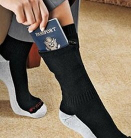 POCKET SOCKS 7734 ANKLE SOCK LARGE BLACK SECURITY
