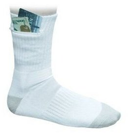 POCKET SOCKS 7732 ANKLE SOCK LARGE WHITE SECURITY
