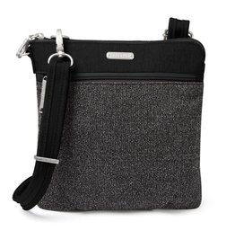 BAGGALLINI ANC355 ANTI THEFT SLIM CROSSBODY BLACK
