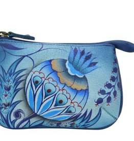 ANUSCHKA 1107 BWB LEATHER COIN PURSE BEWITCHING BLUES