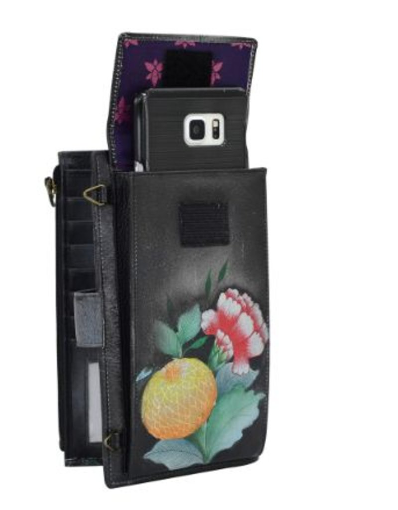 ANUSCHKA 1113 VBQ CELL PHONE CARD CASE WALLET VINTAGE BOUQUET