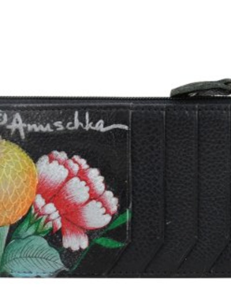 ANUSCHKA 1140 VBQ RFID BLOCKING CARD CASE VINTAGE BOUQUET