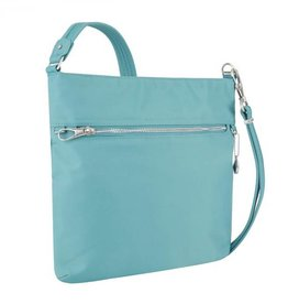 TRAVELON 43201 AQUA  ANTI THEFT SLIM BAG